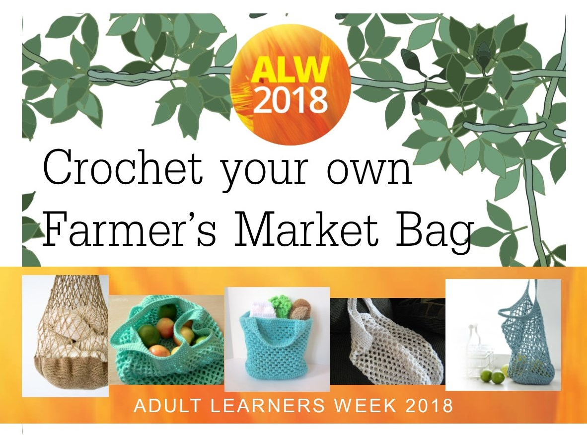 Image: Crochet your own Farmer's Market Bag