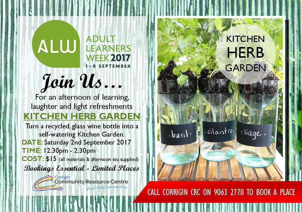 Image: Create a KITCHEN HERB GARDEN Workshop