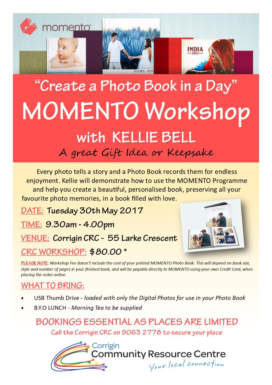 Create a Photobook in a Day Workshop Poster