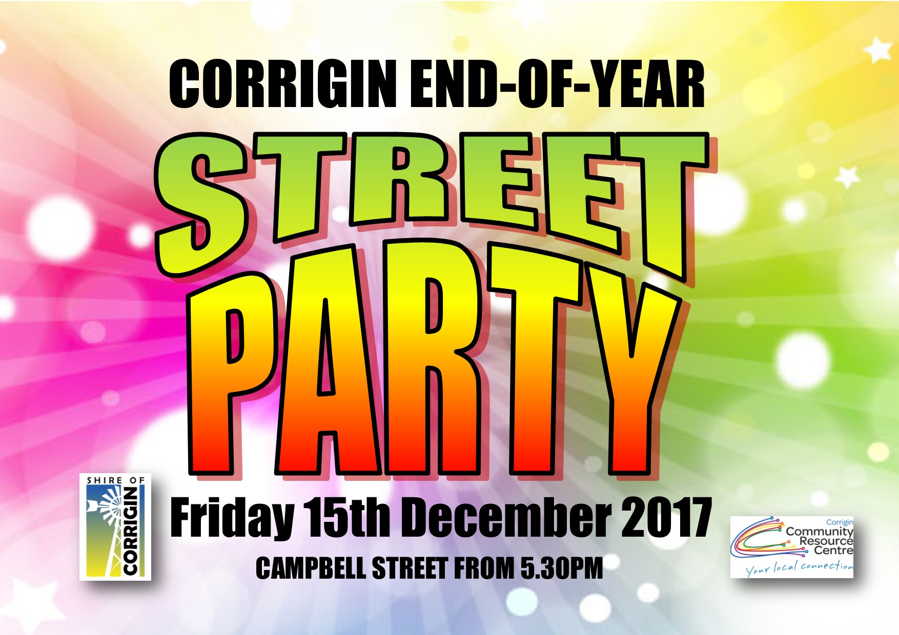CORRIGIN END OF YEAR STREET PARTY 2017
