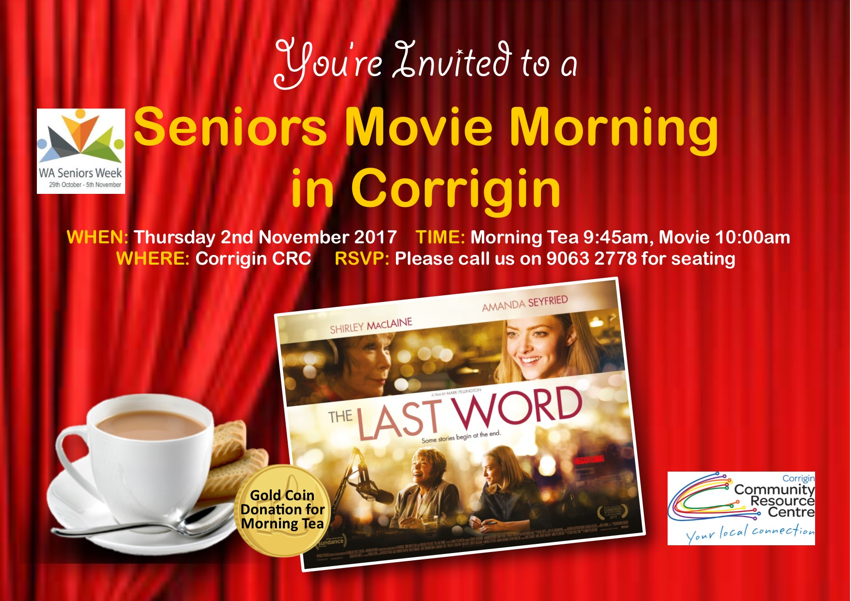 Image: Seniors Movie Morning in Corrigin