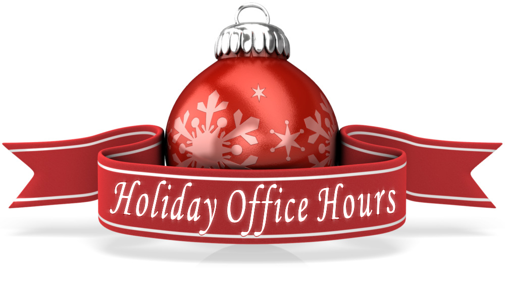 OFFICE CLOSURE DATES OVER CHRISTMAS & NEW YEAR